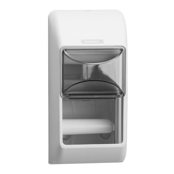 Диспенсър ( дозатор ) за тоалетна хартия малки ролки- бял От Хартия.нет